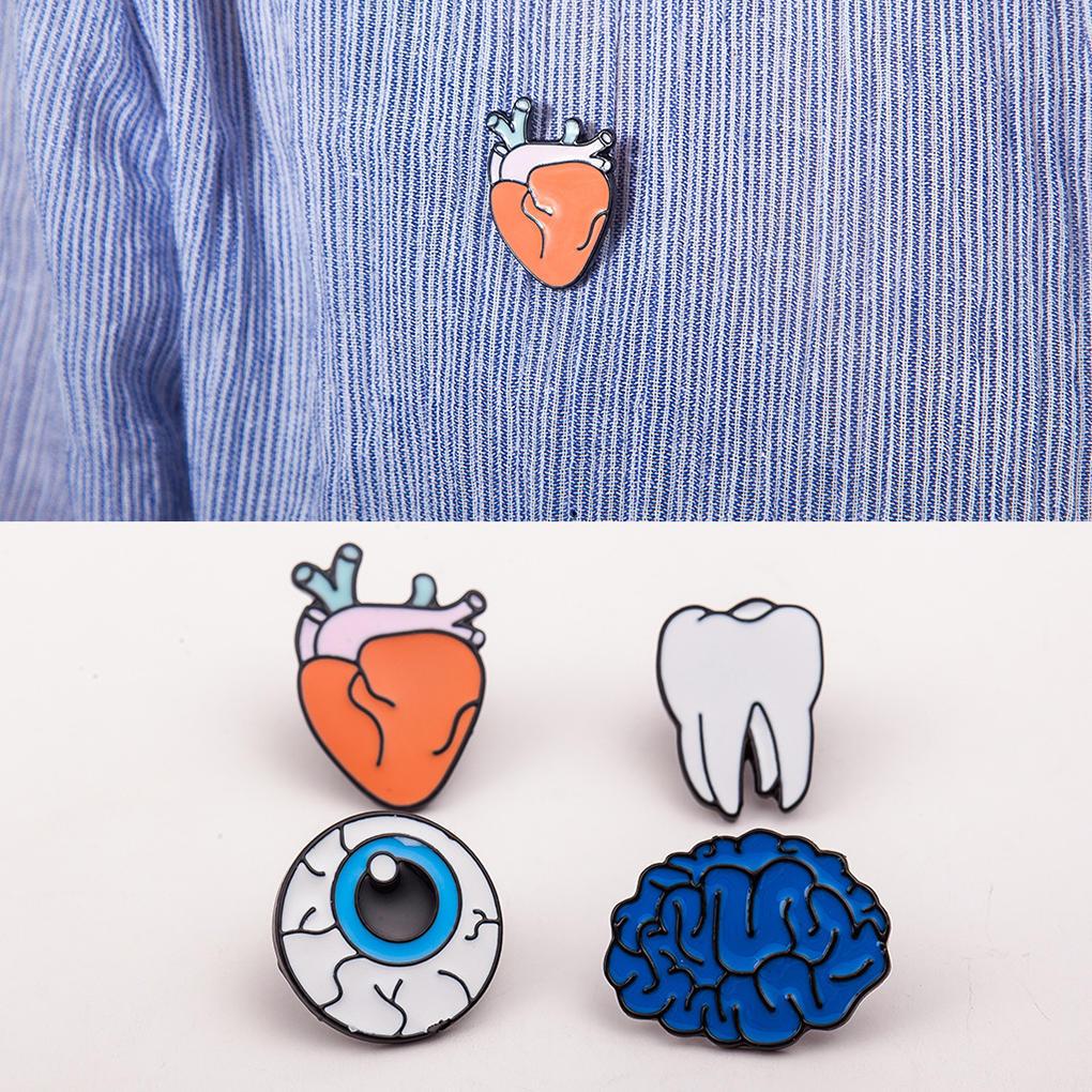 20x Creative Gift Human Organs Corsage Brooch Brain Eye Teeth Heart ...