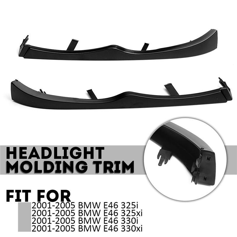 1 piece Under Left Headlight Trim for BMW E46 325i 325xi 330i 330xi 2001-2005