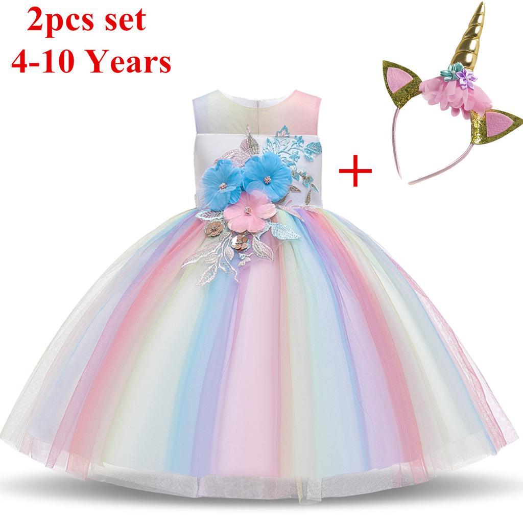 Buy Elegant Children Princess Christmas Dress For Girls Evening ...