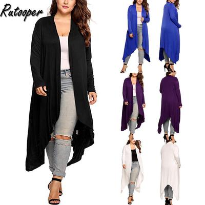 Meaneor Womens Long Sleeve Open Front Long Maxi Cardigan Waterfall Duster Coat Blue