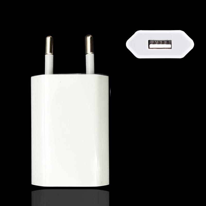 AC стена USB зарядное устройство адаптер ЕС вилка для Apple iPhone 5 5S 5 c 6 6S 7 для iPhone 8 фото