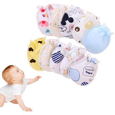Baby Glove Anti Scratch Face Hand Guard Protection Soft Newborn Mitten Cartoon