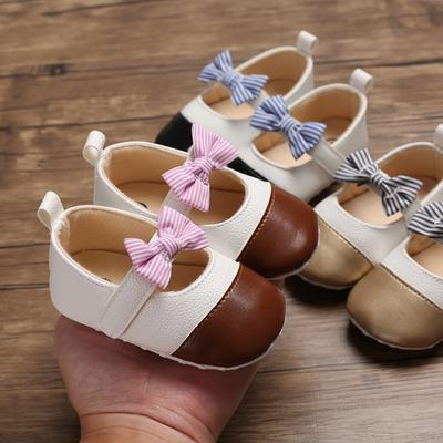LFHT Baby Girls Princess Bowknot Soft Rubber Sole Crib Shoes Mary Jane Prewalker Wedding Dress Shoes