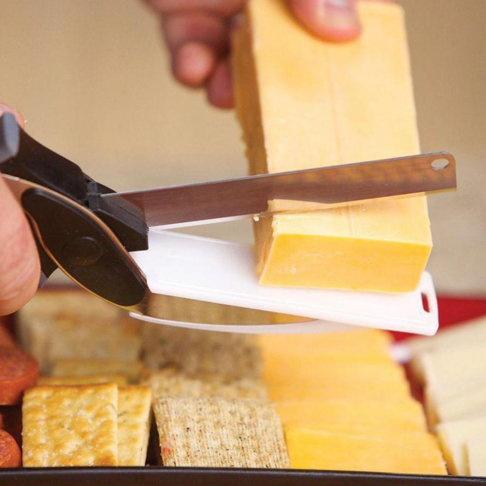 Edelstahl smart Tool Board Küchenschere Allesschneider 2in1 Essen ...