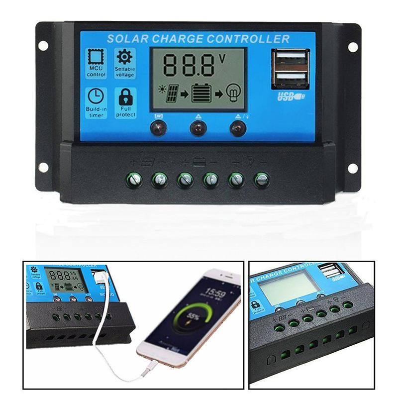 Solarladeregler PWM 6V 12V 3A Tragbarer Solarladeger/ät-Controller mit LED-Anzeige Neu