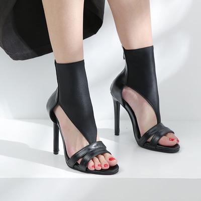Vangull Women Transparent Pumps Buckle Pointed Toe High Heel