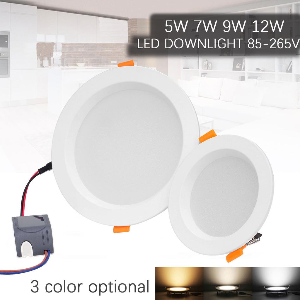 AC Driver 6x 3W 7W 12W Recessed Non Dimmable LED Ceiling Downlight Kitchen Lamp