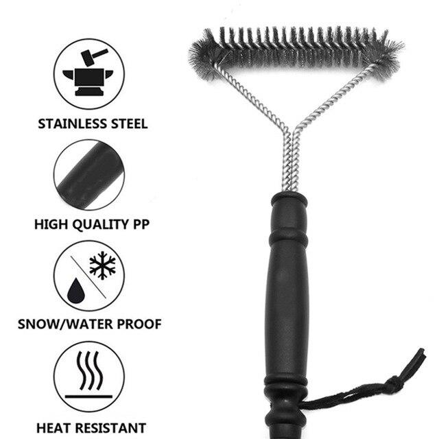 BBQ Grill Barbecue Cleaning Brush Stainless Steel Cooking Tools Kitchen Gadgets