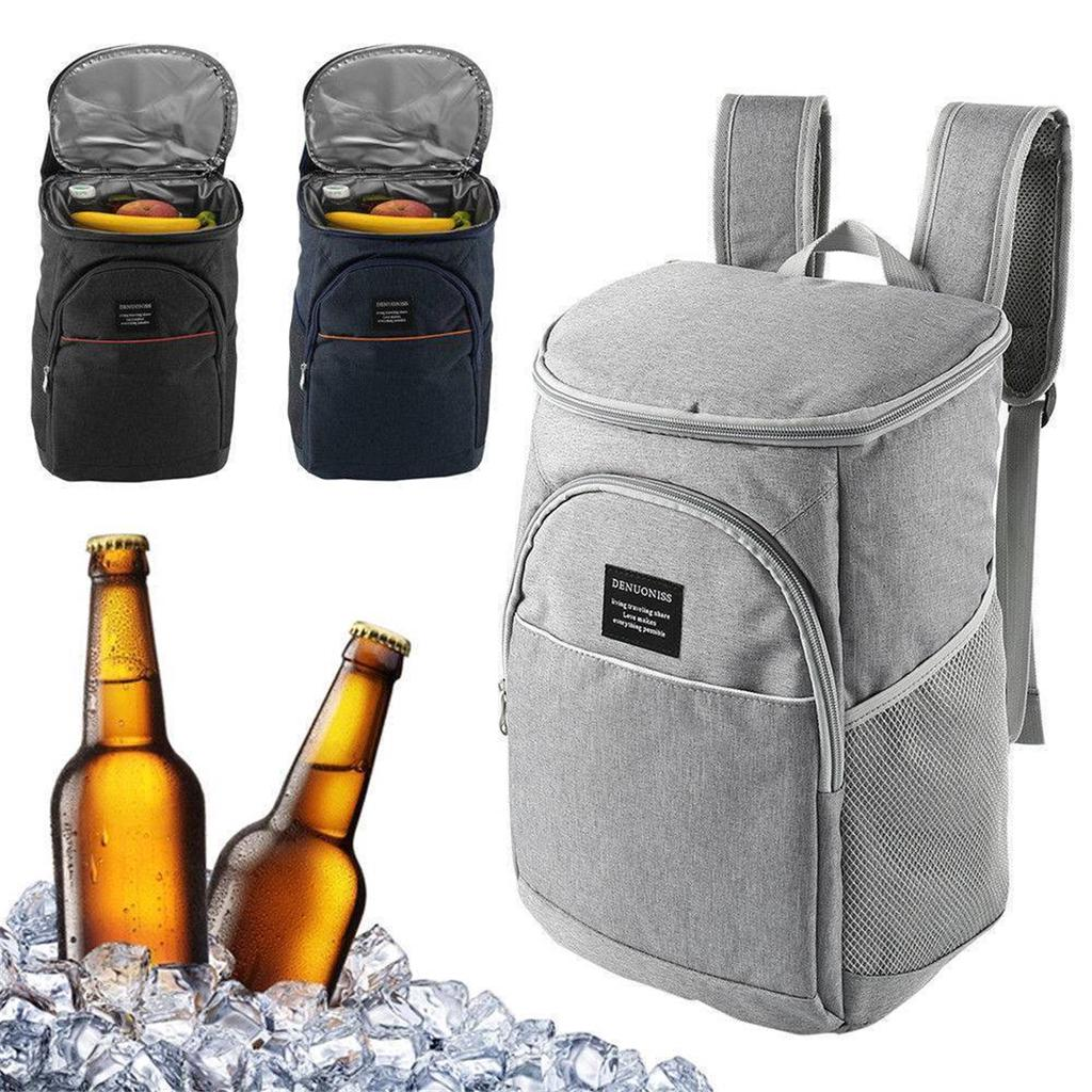 18L Waterproof Insulated Cooling Backpack Picnic Camping Rucksack Bag Ice Cooler
