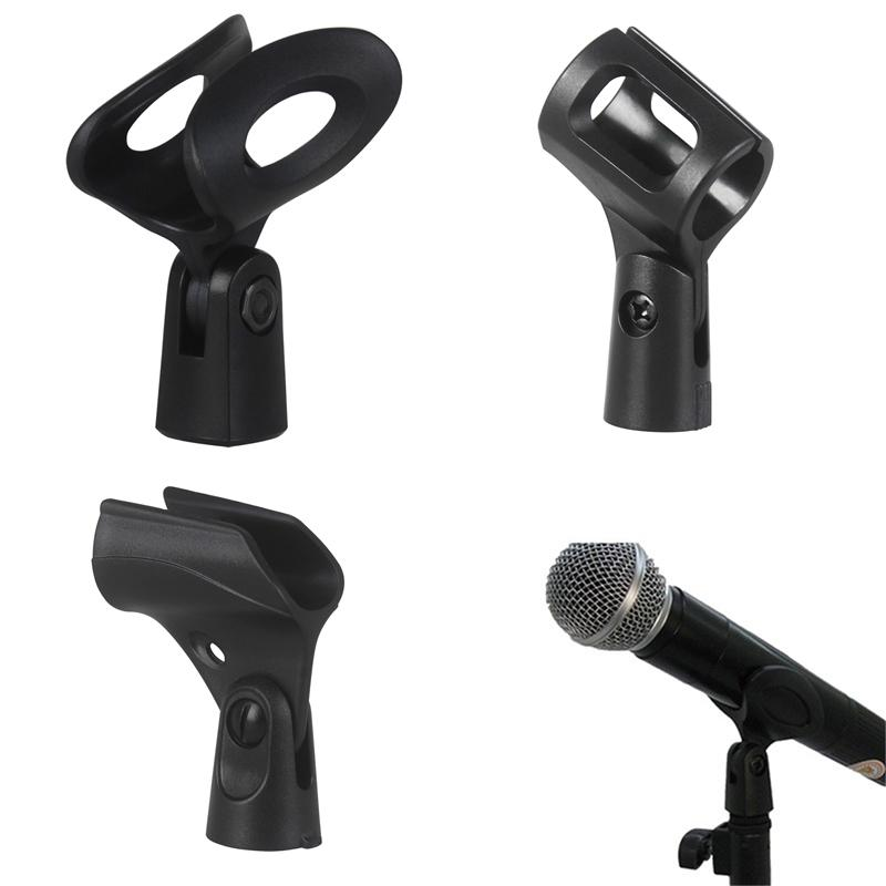 Computer Cables 1PC Black Plastic Flexible Mic Microphone Accessory Stand Plastic Clamp Clip Holder Mount Cable Length Black