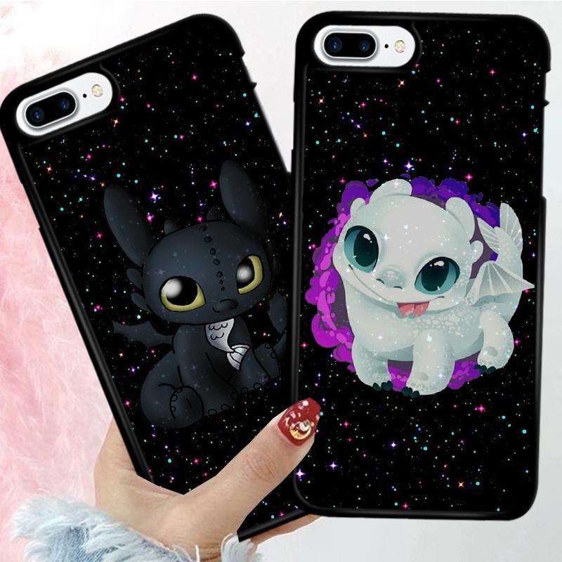 Милые беззубый Дракон телефон случай мягкий чехол для iPhone X Xs Xs Samsung Галактика S10 S9 Huawei Xiaomi