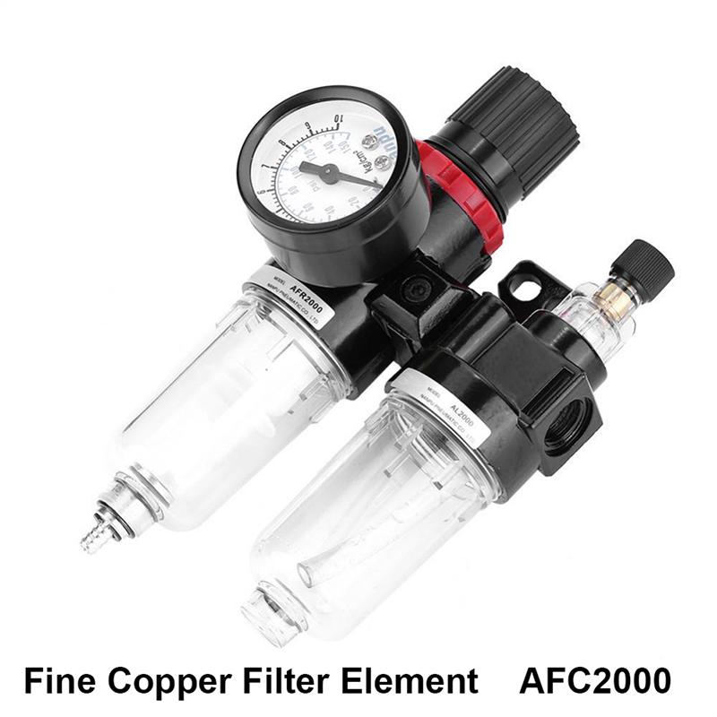 ENET 1//4 Air Source Treatment Filters AFC-2000 Pressure Regulator Lubricator Combo