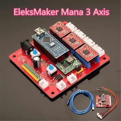 Eixo 3 Stepper Motor Controller Driver placa-mãe para DIY Laser gravador