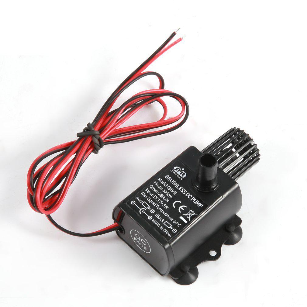 Mini Brushless DC Water Pump DC 12V 5W 280L//H Lift 300cm Submersible Fountain#^