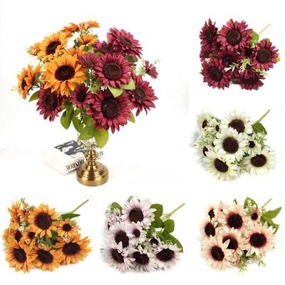 Cute 1 Bunch Sunflower Silk Artificial Flower Bouquet For Home Wedding Decoration Living Room Party Table Window Decor Buy At A Low Prices On Joom E Commerce Platform