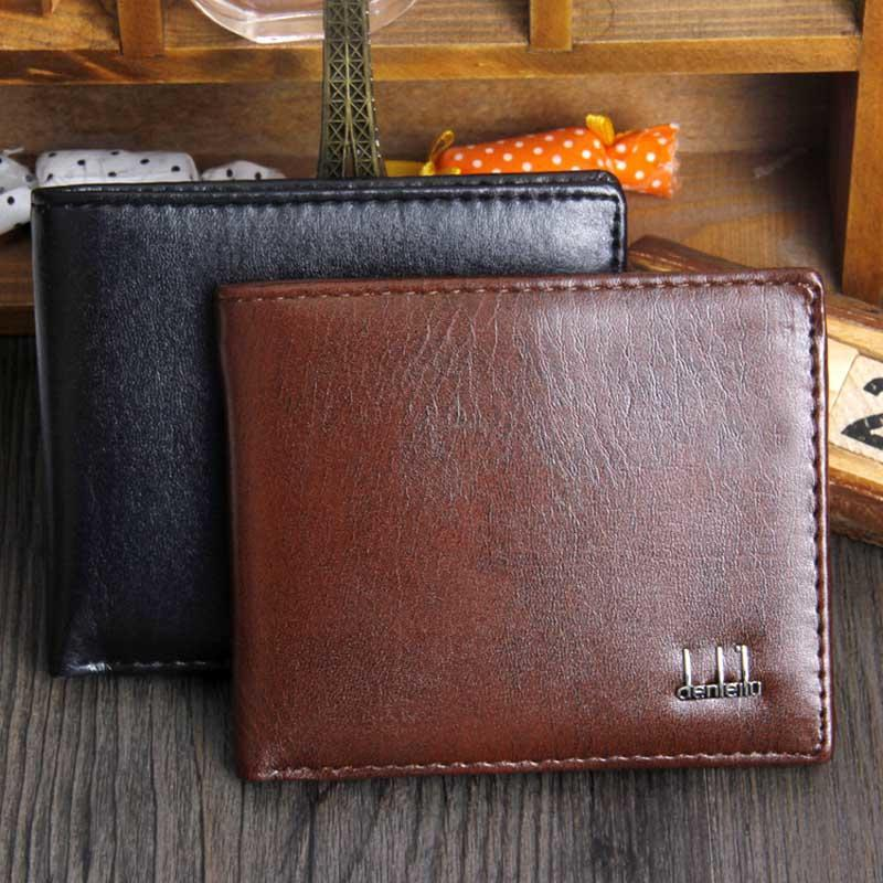 dexbxuli新款男士短款软皮钱包商务风格超薄皮夹卡包厂家现货批发