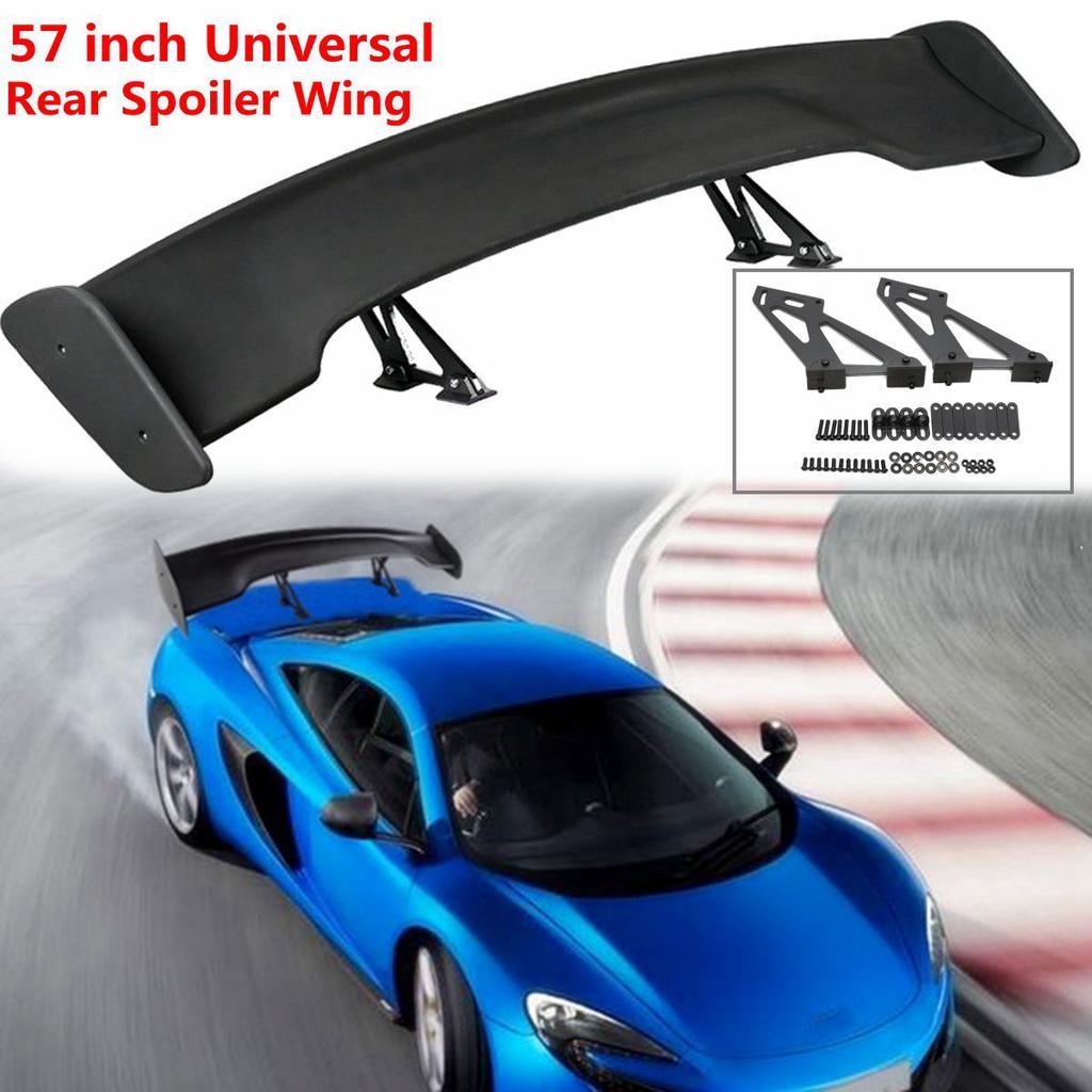Nero 35cm Universale Auto Lato Gonne Laterali Rocker Splitter Winglet Canard Diffusore