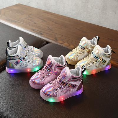 LED Children Boy Girl Light Up Sneaker Short Boots Baby Luminous Shoes Kids Gift