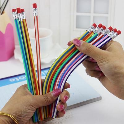 Random Color Bendable and Folding Soft Pencils Fantastic Soft Pencil Magic Non-broken Writing Pen
