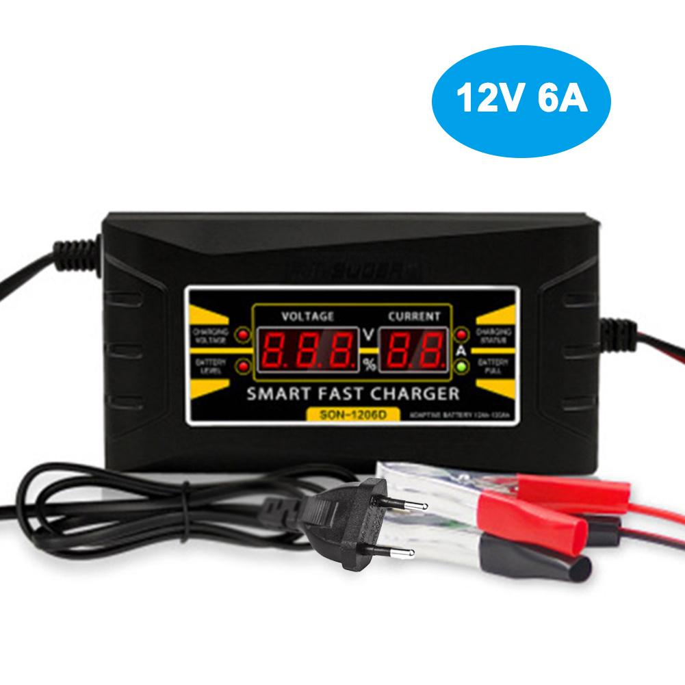 Car Battery Charger Fast Charging Lead Acid with Digital Display 12V 6A
