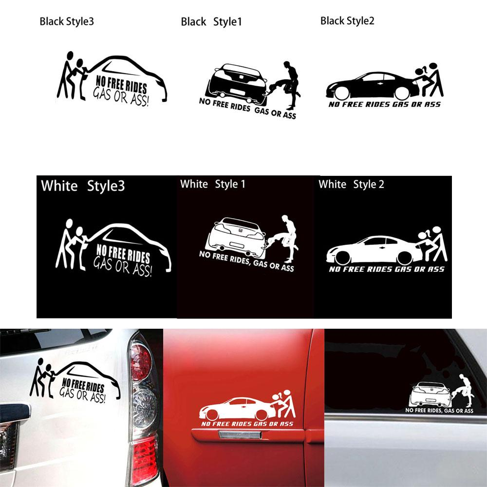Funny No Free Rides Gas Or  Hot Drift Sticker Car Vinyl Car Sticker Decal Decor