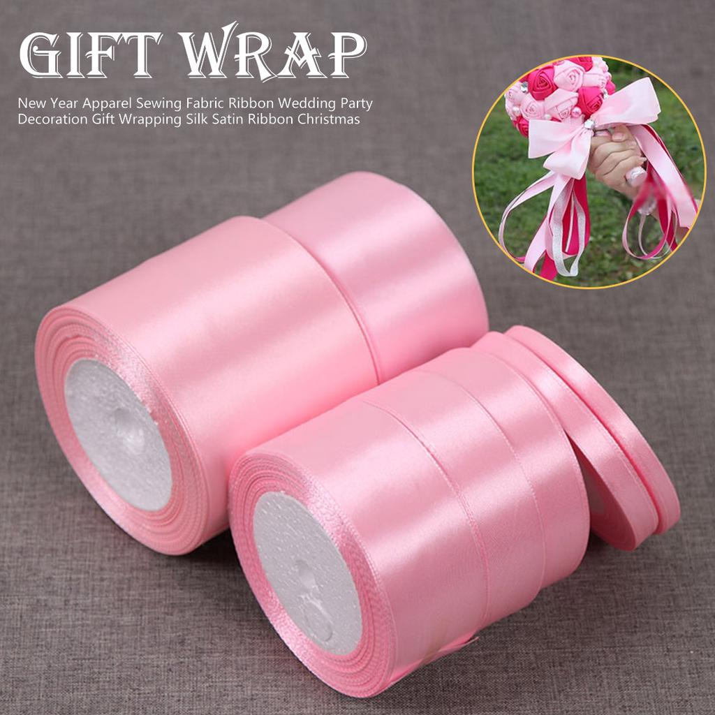 Satin Ribbon Lengths Best Quality Double Sided Sewing Crafts Gift 10mm 25mm 50mm