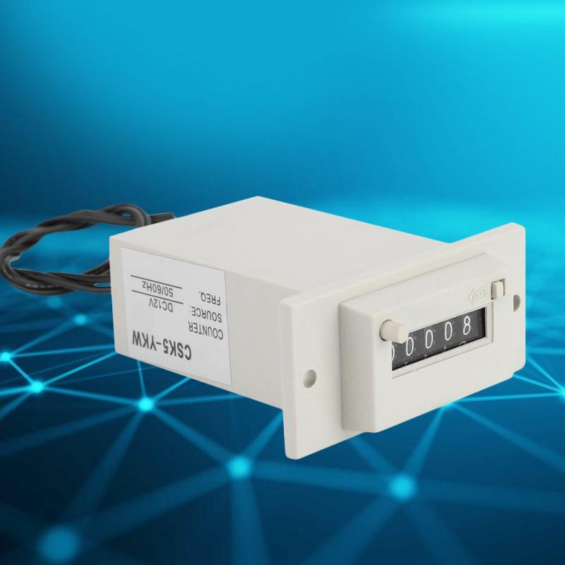 5 Digit DC 12V//36V CSK5-YKW Counter 0~9999 Industrial Totalizer Count Range for Chemical Textile Machinery /& Petroleum /& Agriculture Pulse Counter DC 12V Electromagnetic Counter