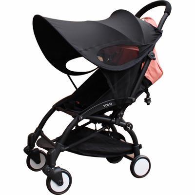 Hood Baby Stroller Shading Carriage Visor Canopy Anti-UV Weatherproof Umbrella Sunscreen Black