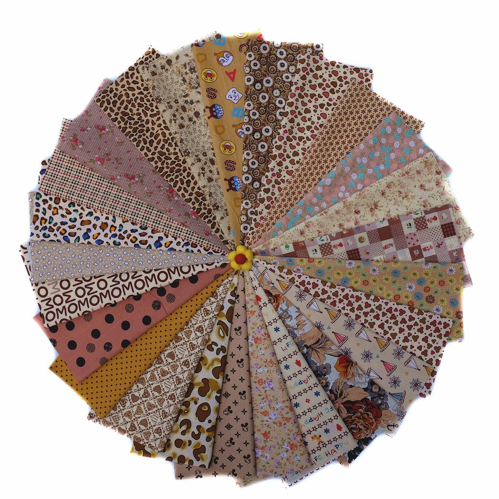 3Pcs Hand Dyed Angel Patchwork 100/% Cotton Linen Fabric Upholstery Decor DIY