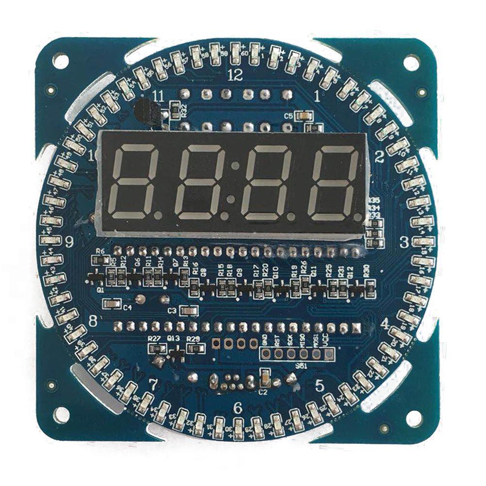 5Pcs C51 6 Bits Digital Display Clock DIY Kit Electronic Production Suites 7-12V
