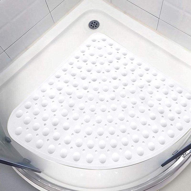 BATHROOM RUBBER MATS SUCTION ANTI SLIP 43x43cm PVC NON SLIP BATH SHOWER MAT