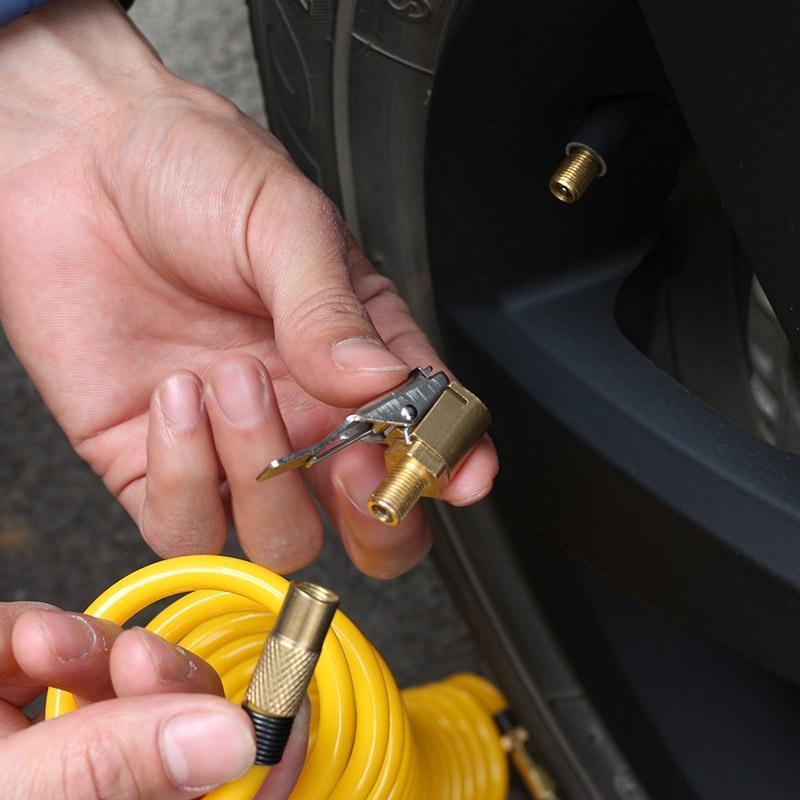 Tyre Valve Air Pump Clip Car Air Pump Thread Nozzle Adapter 6 or 8mm 8mm Tire Air Chucks Open End Car Truck Tyre Tire Inflator Valve Connector