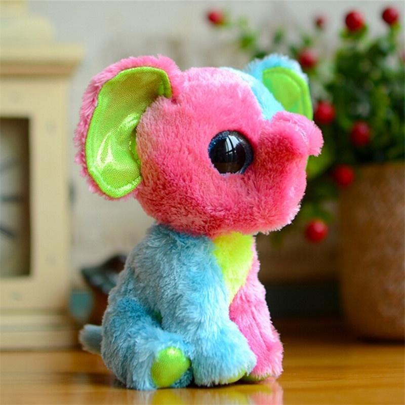 66db878a3d5 Beanie Boos Kids Plush Toys Ty Big Eyes Elfie Pink green Elephant ...