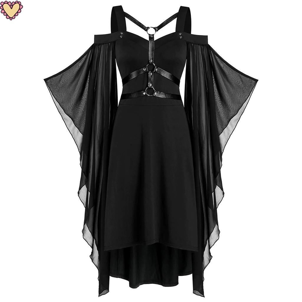 Gothic Dress Lace Dress Black Swing Dress Lolita Dress Cocktail Dress Long Sleeved Dress Women Plus Size Clothing Plus Size Dress