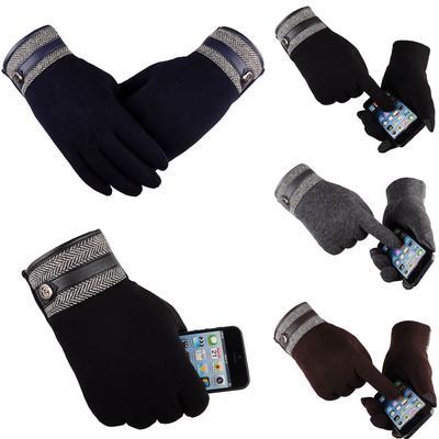 Brown Men Thermal Winter Motorcycle Ski Snow Snowboard Gloves Fashion Winter Outdoor Sport Warm Waterproof