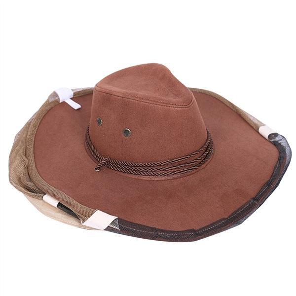 Beekeeping Hat Cowboy Hat with Veil Anti Mosquito Bee Insect Bug ... 4a461b3b3df0