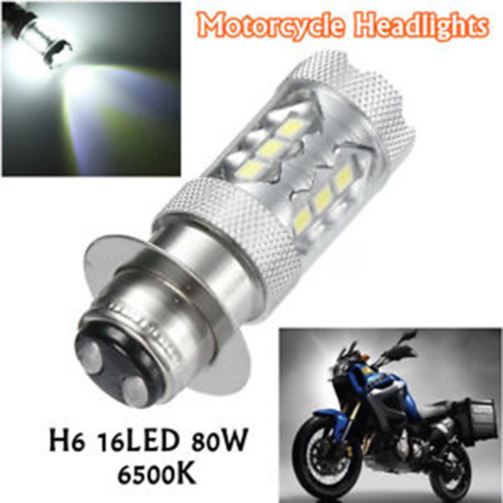 2x 6000K White H6 COB LED Motorcycle ATV Headlight Fog Light Bulb P15D 12V DC