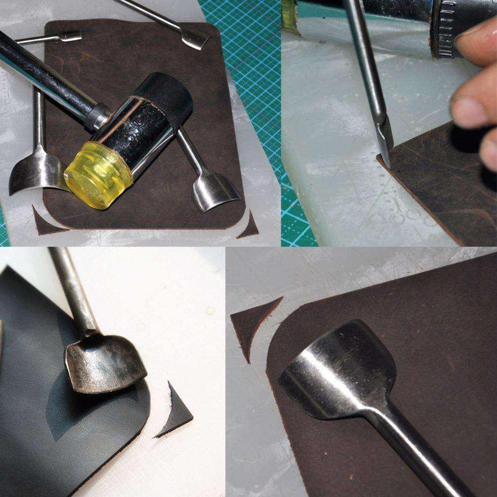 DIY Belt Leather Craft Quarter Round Half-Round Cutter Punch Tool 10-50mm
