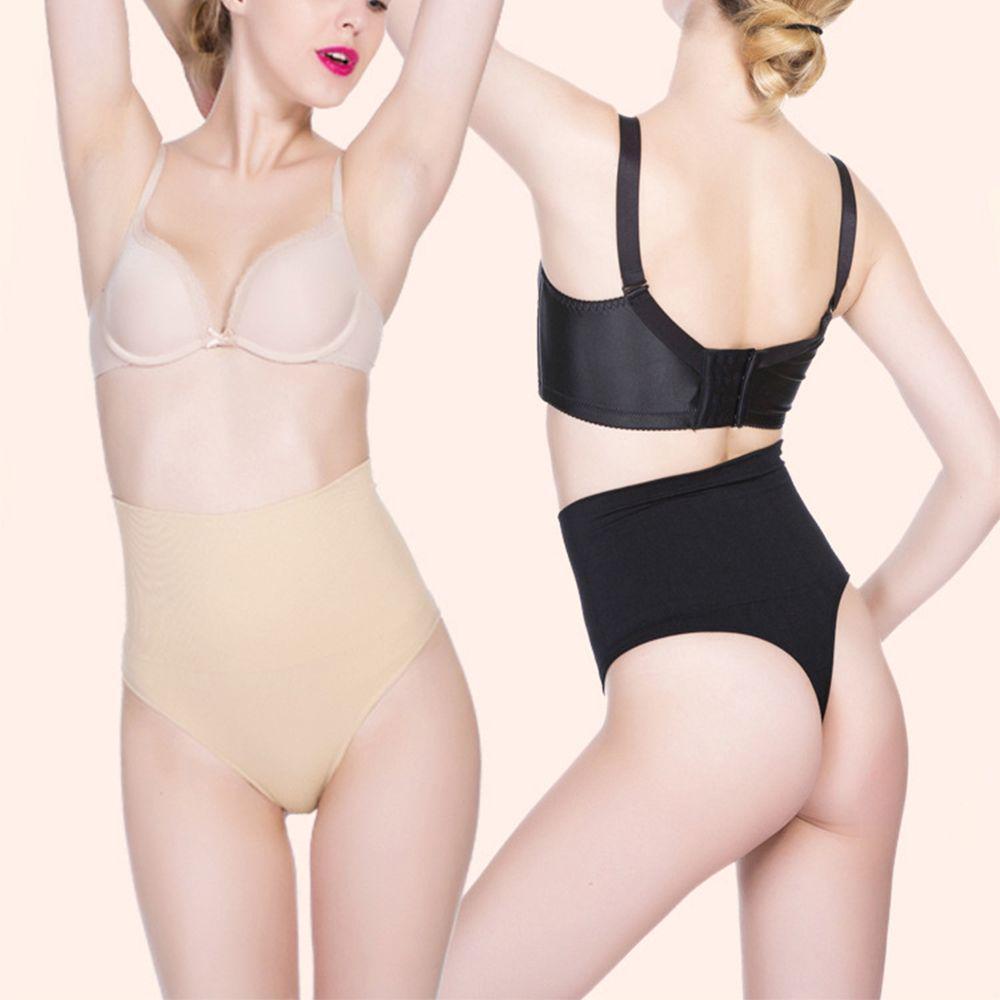 7731e0289b9 High Waist Tummy Briefs Slimming Body Shaper Seamless G-String Thong ...