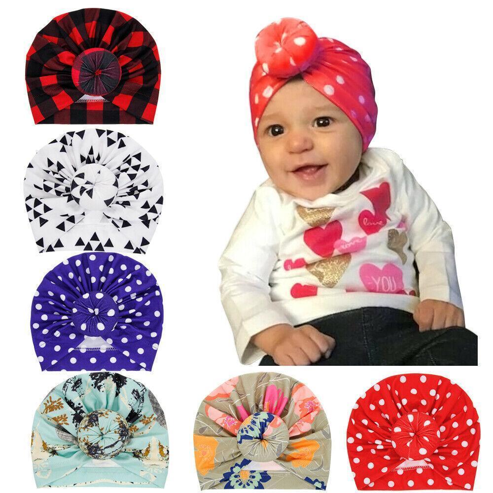 Coton Fille Bébé Bandeaux Mignon Dot baby hair band Newborn Kids Bows Turban