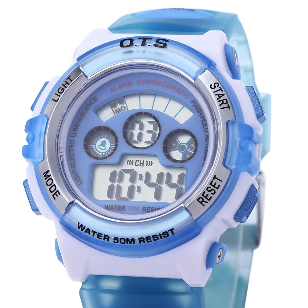 b8d316c2e51f OTS 833 niños deporte LED reloj Digital agua resistencia ...