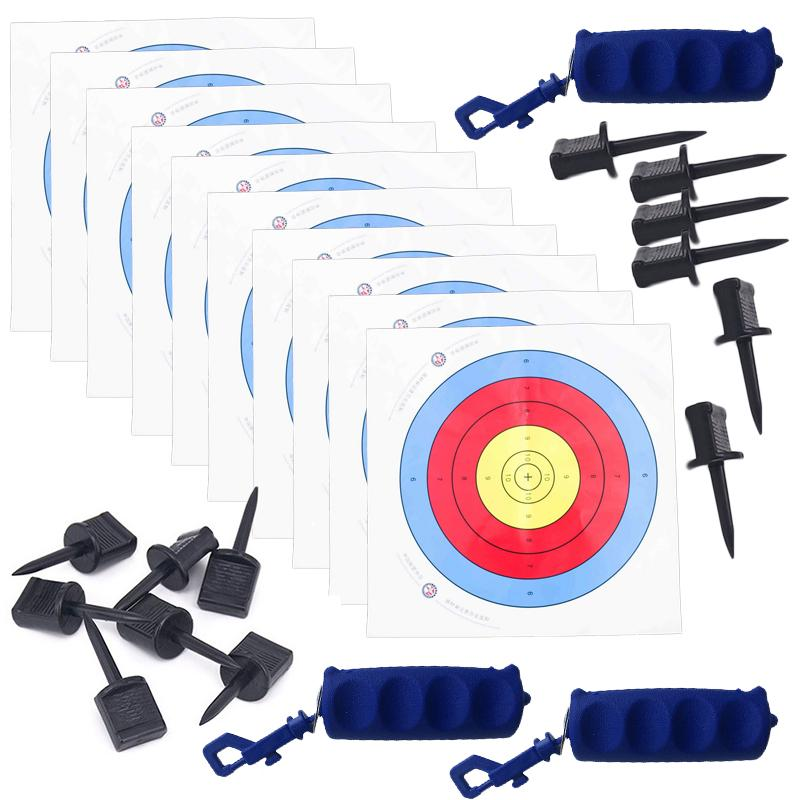 40*40CM Archery Targets Paper Face Nails Arrow Bow Outdoor Practice Training