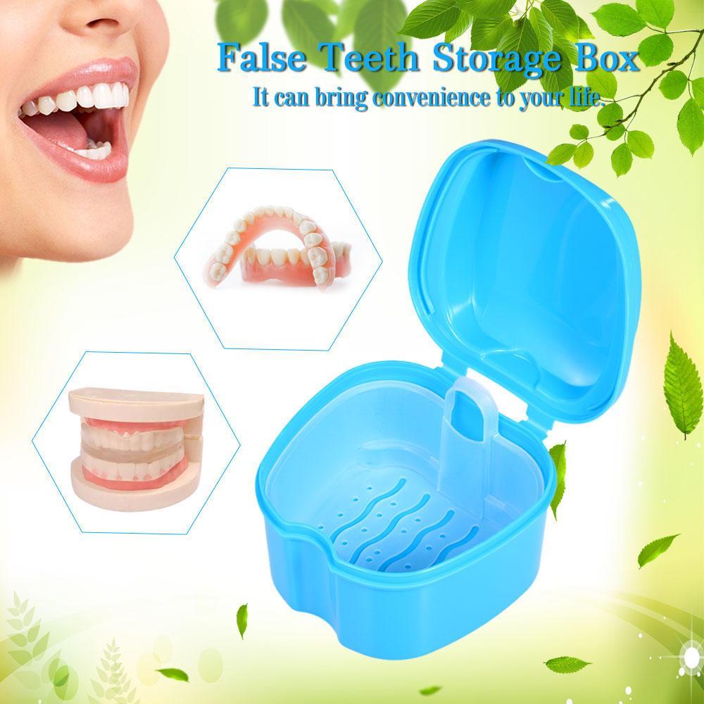 Протез Ванна Box прибора зубы хранения случае промывки корзина фиксатор фото