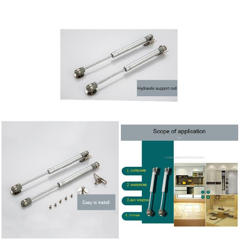 Kitchen Cabinet Pneumatic Support Hydraulic Gas Spring Stay Hold Hardware Silver