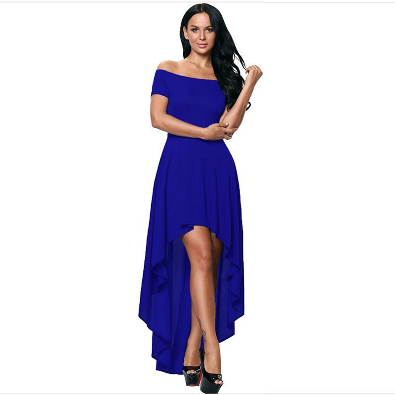 Hermosa Vestidos De Fiesta 2014 De Alta Y Baja Modelo - Ideas para ...