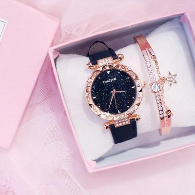 Glamour Women Watch Fashion Leather Strap Quartz Watch Dress Accessories Bracelet Watch