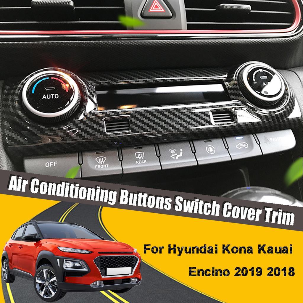 Trim Chrome Front Side Air Vent Outlet Cover For Hyundai Kona Encino Kauai 2017