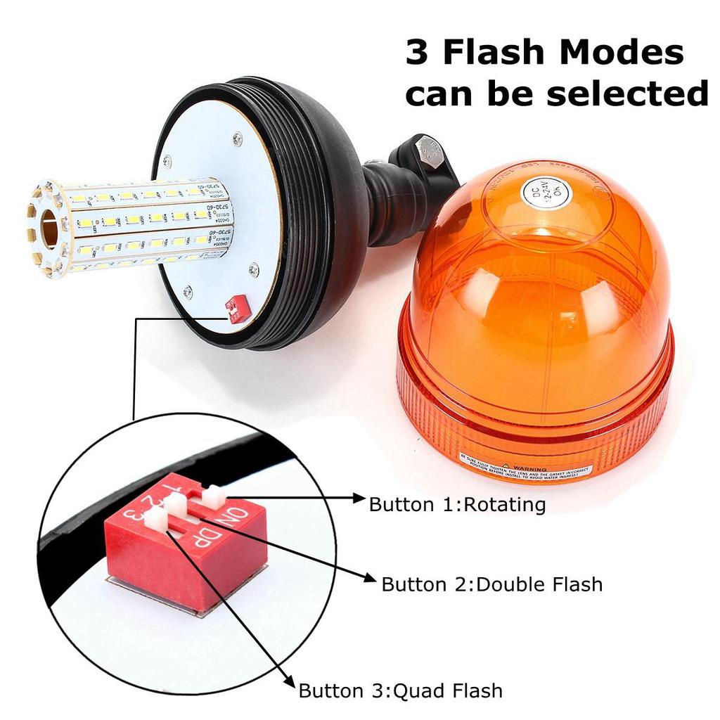 Forklift Emergency Warning Flash Strobe Rotating Beacon Led Light How To Build High Intensity Flasher 1 Of 11