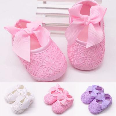 Summer Hollow Newborn Baby Shoes Cute Bows Infant Girl Shoes First Walkers Non-Slip Booties Shoes