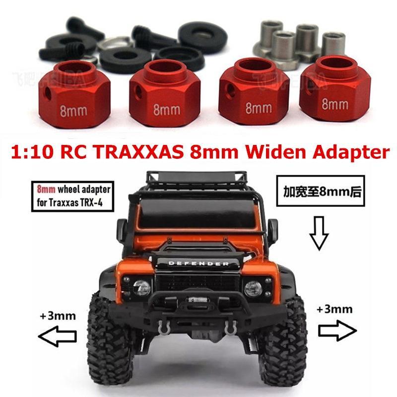4pcs Metal Widen Wheel Hubs Adapter Widening Set for TRAXXAS TRX-4 1//10 RC Car